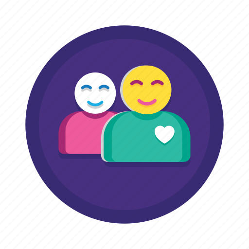 happy, heart, people, smiley, users icon