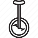 circus, unicycle, wheel icon