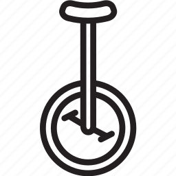 circus, unicycle, wheel icon