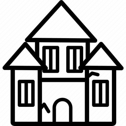 building, city, halloween, haunted, house, spooky, town icon