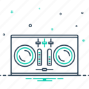 dj, dj remote, electronic, remote, soundboard, turntable icon