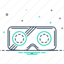 gadget, glasses, reality, visual watching, vr, vr glasses icon