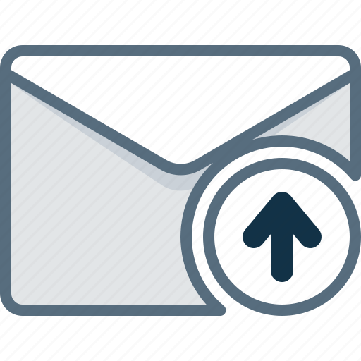arrow, email, envelope, mail, up, upload icon