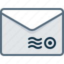 email, envelope, mail, post, stamp icon