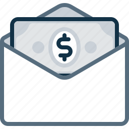 bill, dollar, email, envelope, mail, money, pay icon