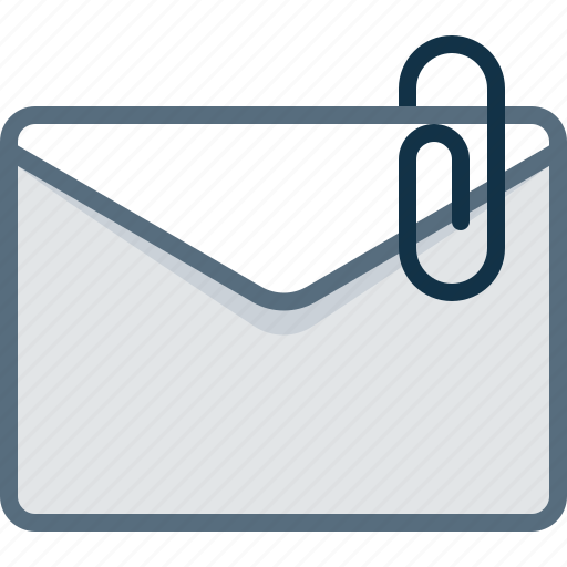 attachment, clip, email, envelope, mail, post icon