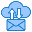 email, envelope, mail, cloud, transfer