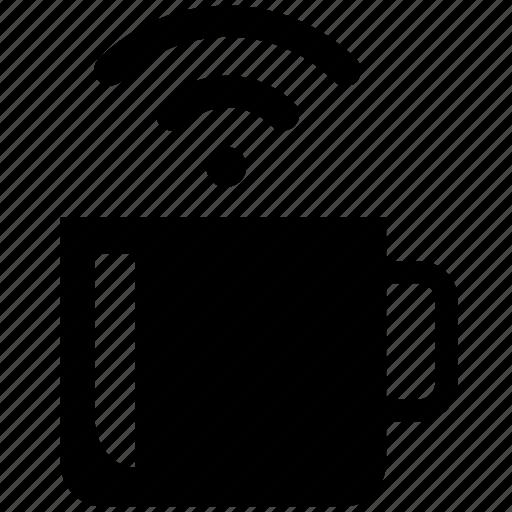 co working, coffee, freelance, remote, wifi signal, workspace icon