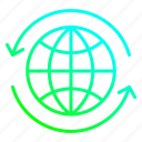 arrow, earth, ecology, environment, travel icon