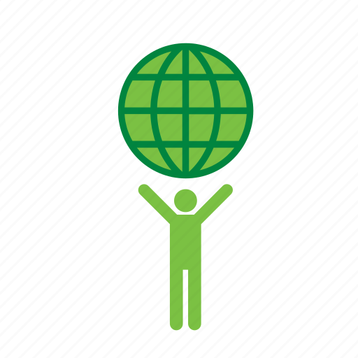environment, environmental, globe, green, man, world icon