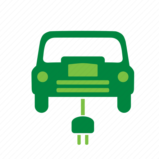 car, electric, energy, environment, environmental, green, recycle icon