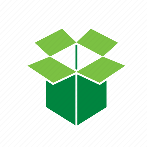 box, cardboard, environment, environmental, green, recycle, recycling icon
