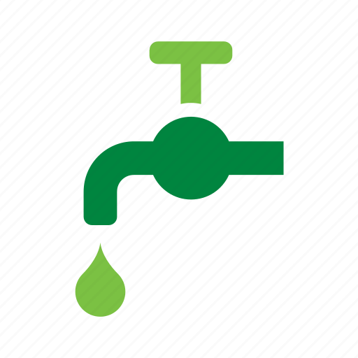 environmental, green, recycle, recycling, safe, tap, water icon