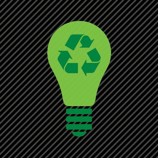 bulg, environmental, green, lamp, light, recycle, recycling icon