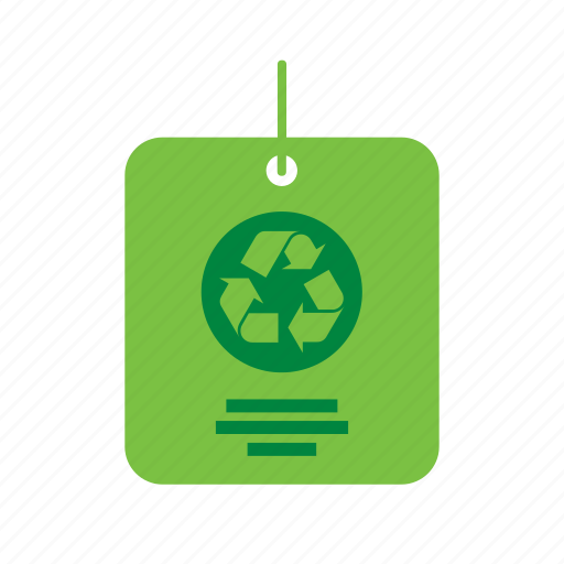 environment, environmental, green, label, recycle, recycling, sign icon