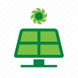 energy, environmental, green, panel, recycle, recycling, solar icon