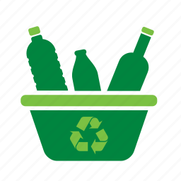 basket, bottle, environment, environmental, green, recycle, recycling icon