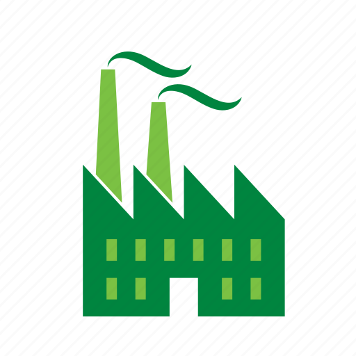 building, environment, environmental, factory, green, recycle, recycling icon