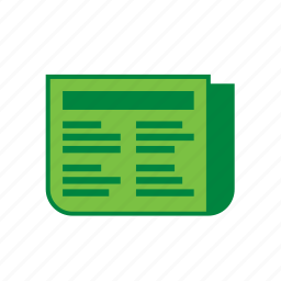 environment, environmental, green, newspaper, recycle, recycling icon