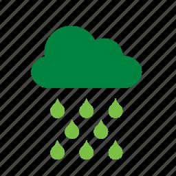 cloud, environment, environmental, green, rain, recycle, recycling icon