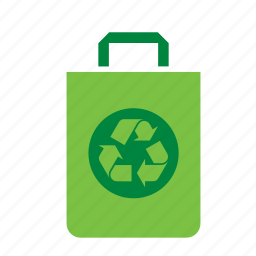 bag, environment, environmental, green, recycle, recycling, sign icon
