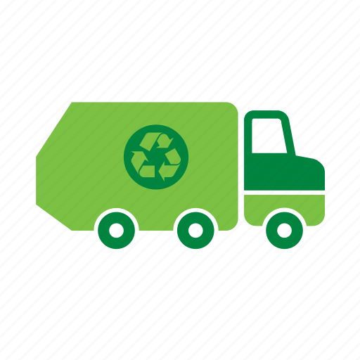 environment, environmental, garbage, green, recycle, recycling, truck icon