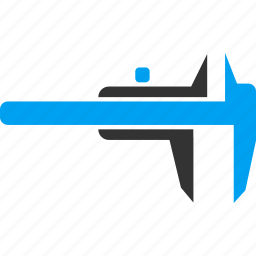 calipers, engineering, equipment, instrument, measure, measurement, ruler icon