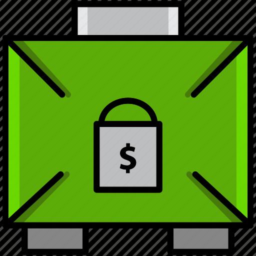 communication, essential, guardar, interaction, lock, safe box, save, urgent icon