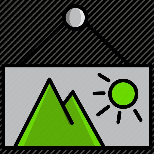 communication, essential, interaction, photo, picture, sun, urgent icon