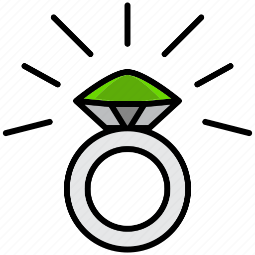 communication, essential, interaction, jewelery, ring, urgent, woman icon