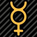 esoteric, human, mental, mercury, zodiac icon