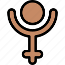 esoteric, human, mental, pluto, zodiac icon
