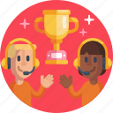 trophy, esports, headsets, gamers, headphones, egames, gamer icon