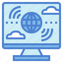 computer, internet, technology, wireless icon