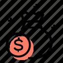 earnings, money, coin, money bag