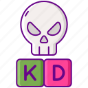 death, kd, kill, ratio icon