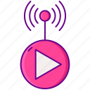 live, stream, streaming icon