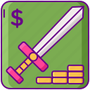microtransactions, in-game, transactions icon
