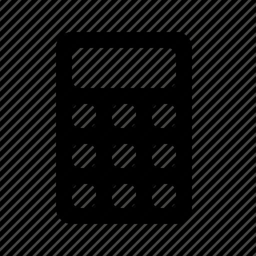 calculator, fee, sum, total icon