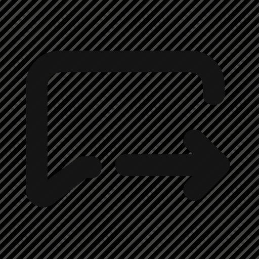 Forward, msg icon - Download on Iconfinder on Iconfinder
