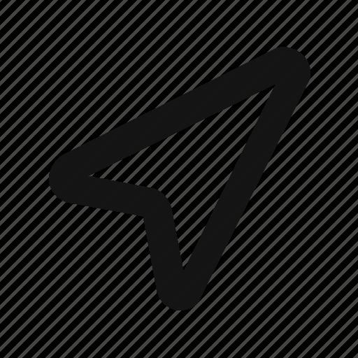 arrow, direction, gps, navigation, pointer icon