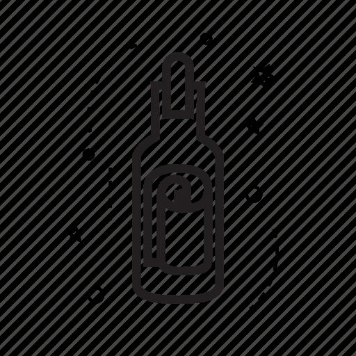 bottle, communication, essential, message, pirate, send, urgent icon