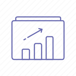 business growth, chart, graph, growth, seo icon