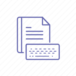 document, keyboard, typing icon