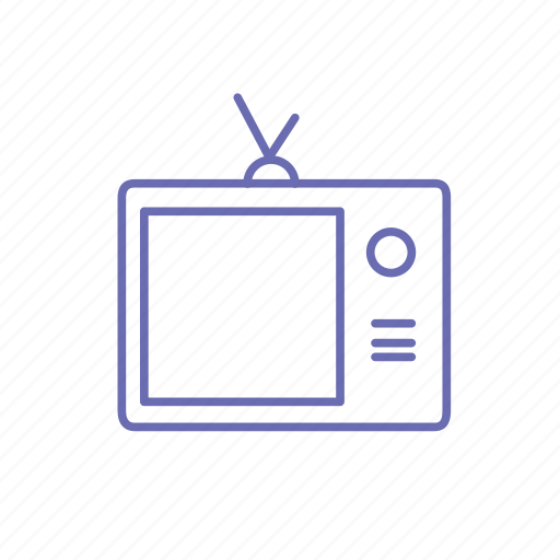 Old television, old tv, television, tv icon - Download on Iconfinder