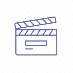 clapboard, director, film, film industry, movie, movie making, shooting icon