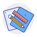 document, file, paper, pen, text icon