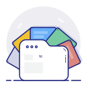 data, database, documents, files, storage icon