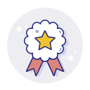 achievement, award, badge, favorite, star icon