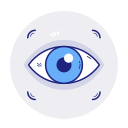 eye, find, view, vision, zoom icon